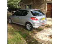 Peugeot 206 Quicksilver 1.4 only 62500 miles