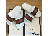 Gucci Pursuit Slides White Size UK 5 6 7 8 9 10 11 Sold Out Worldwide