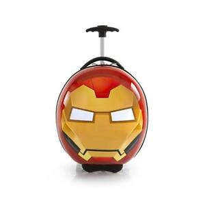 Marvel Avengers Circle Shaped 16 Inch Hardside Luggage Suitcase for Kids [Iron Man]