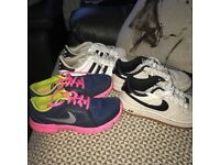 Size four trainers