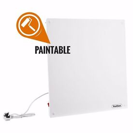 VonHaus 500W Low Energy Slimline Paintable Wall Mounted Ceramic Eco Panel Heater