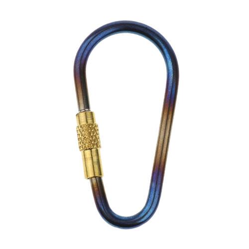 Mini Titanium Locking Carabiner Clip Perfect D Key Ring for