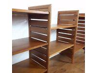 Ladderax 1960's, 1970's Retro Vintage Furniture System - Teak Shelf and Bars