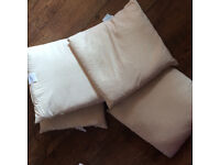 Natural cushions pads/cushion inners x4