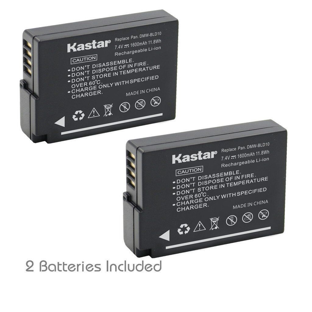 2x Kastar Battery For Panasonic Lumix Dmw-bld10 Dmc-g3 Dm...