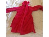 Girls pink dressing gown age 5-6 from M&S