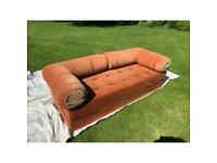 Settee converts to Bed (single/double) corduroy 1890 x 790