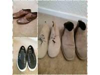 4 X men's shoes. Size 9. £5.