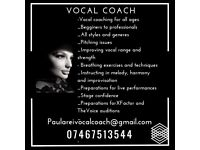 Vocal Coach For Beginners and Live Singers