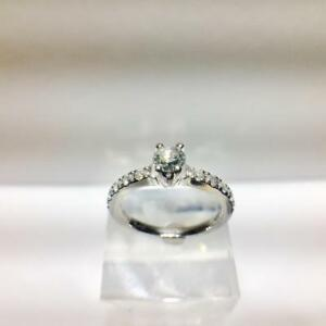 Great Deal 14K White Gold ertified Canadian Mined Round Brilliant Diamond Engagement Ring
