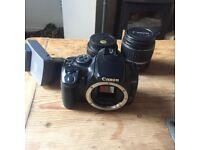 Canon EOS Digital Camera DC 8.1V Rebel XTi 10.2MP Digital SLR Camera + 2 Lenses