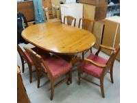 Solid wood table and 5 chairs
