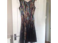 Beautiful Party Dress black/multi coloured.