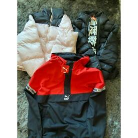 Superdry / puma / kappa coat clothes bundle