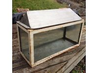 Metal angle framed FISH TANK / AQUARIUM / VIVARIUM 76cm x 38cm x 30cm
