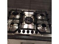 Stainless steel 5 wok burner hob