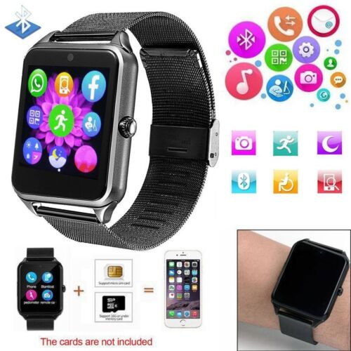Bluetooth Smart Watch Pedometer GSM Smart Wristwatch for Samsung J3 5 7 Note 10 Cell Phones & Accessories