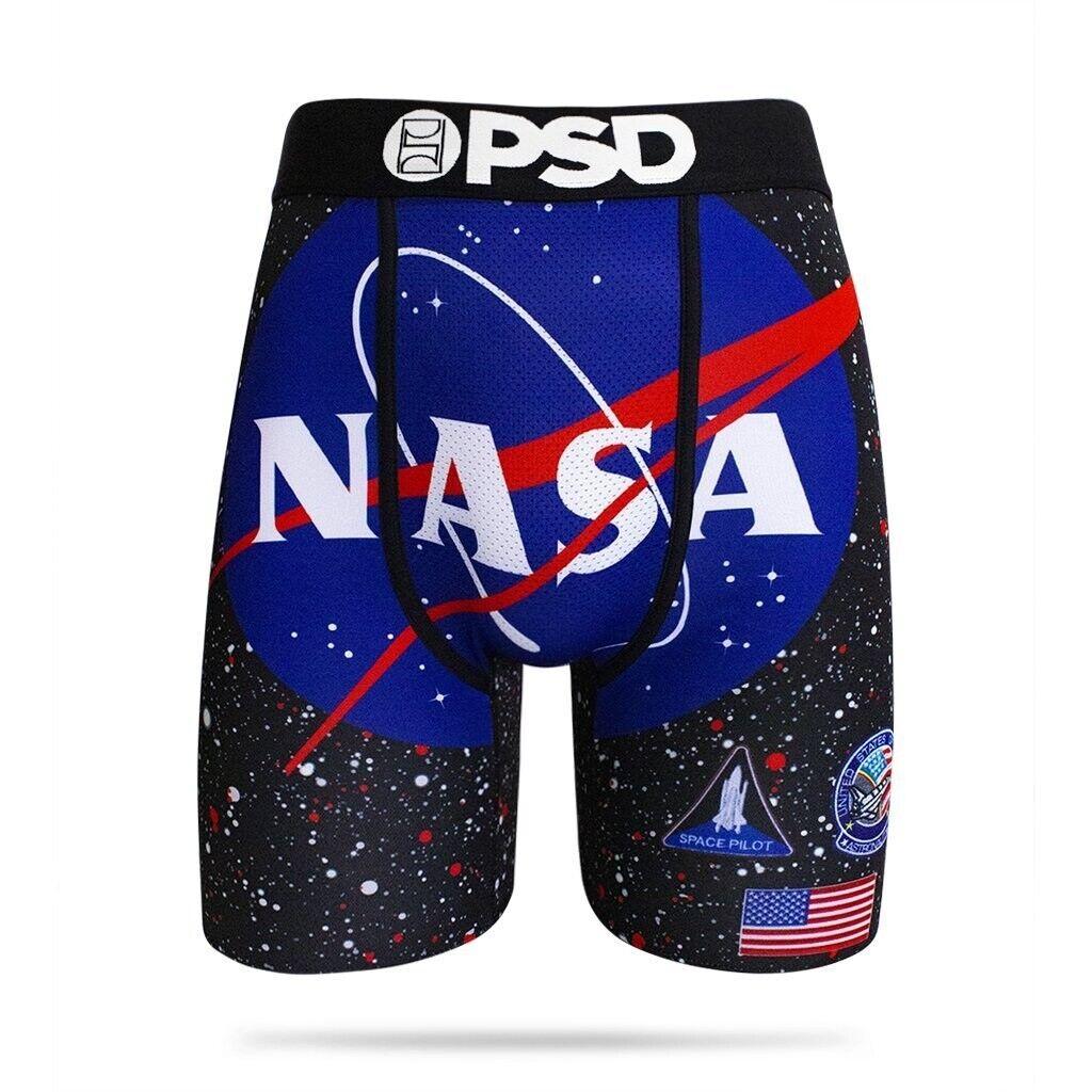 Psd Klammer Nasa Fach Galaxis Amerikanische Flagge Herren Boxer Shorts