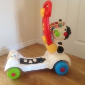 Vtech 3 in 1 musical activity scooter, ride on and walker