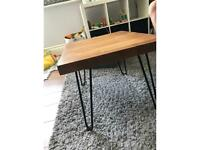 Modern Oak handmade coffee table, hairpin legs,