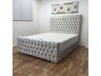 Luxury crushed velvet bed
