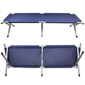 Singe fold up portable bed ideal for guest mattress included never been used.