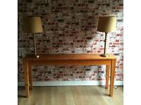 Beautiful elegant solid wood large retro hall/side table, 153cm L
