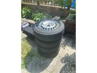 VW Crafter wheels and tyres x4