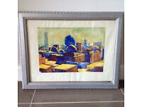 Watercolour of Khiva 1965 in Antique Frame
