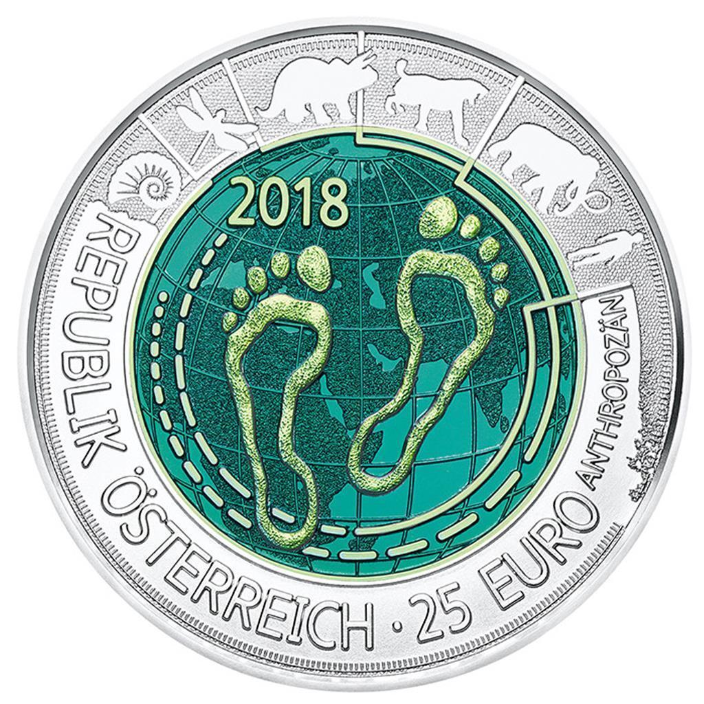 Österreich - 25 Euro 2018 - Anthropozän - Silber – Niob