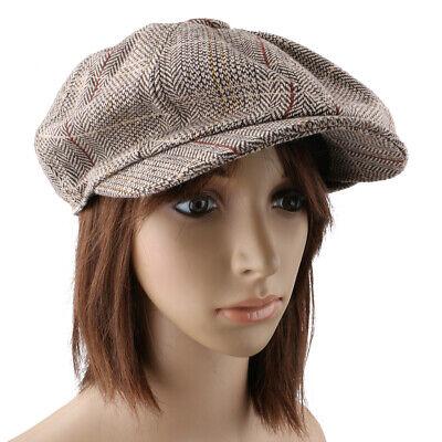 Chic Tweed  Cap Ivy Hut Golf Fahren - Tweed Newsboy Hut