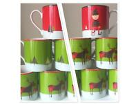 Whittard and John Lewis Christmas mugs - Elf and Reindeer