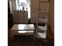 Ikea Coffee table and bookshelf