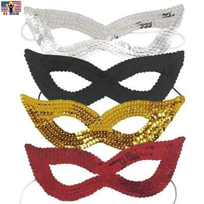 Sparkle Bling Sequin Eye Mask Costume Cat Eyemask Halloween Party