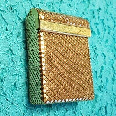 70s OROTON glomesh gold mesh cigarette case with box. As new.