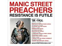 Manic Street Preachers Motorpoint May 5th