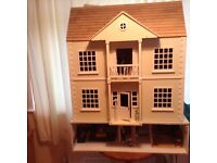 Dolls House, fully decorated and furnished