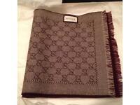 GG jacquard wool scarf RRP -£165