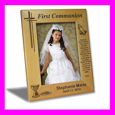 5x7 PERSONALIZED FIRST COMMUNION PICTURE FRAME GIFT