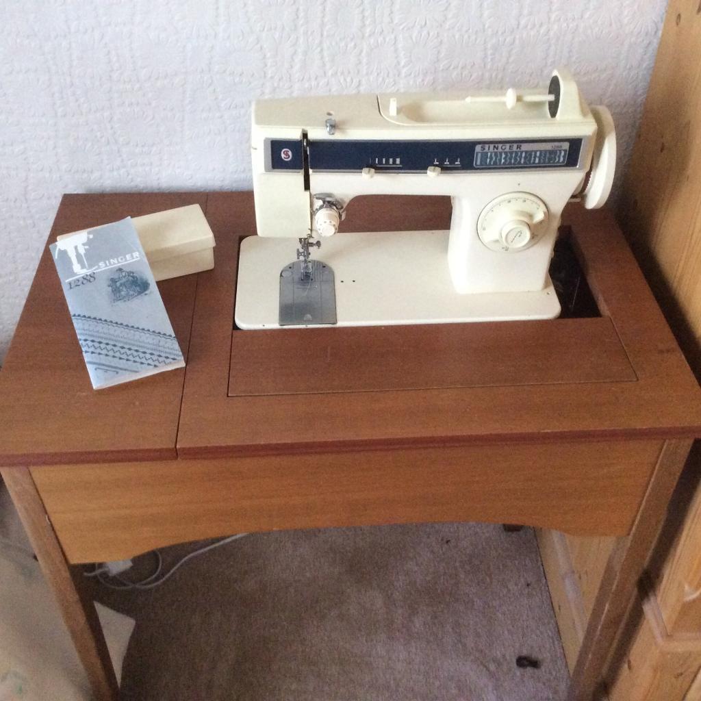 sewing machine storage table