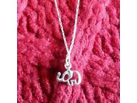 Sterling Silver Elephant Pendant & Chain