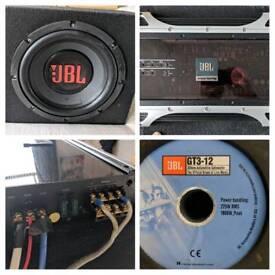 Jbl sub and amp