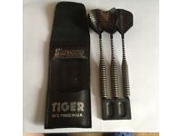 A 3 Piece Set of Harrows Tiger Darts 24G in Black and White