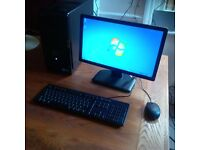 Dell Vostro i3 3.3GHZ 4BG 500BG HDD Desktop with Monitor, Keyboard and Mouse