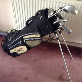 Lady's complete set of golf clubs