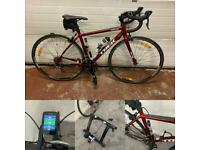 Trek One Series Road Bike (50cm) with Garmin Edge 520 plus, Speed/Cadence Sensors and Turbo Trainer