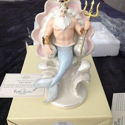 """Lenox Disney The Little Mermaid """"King Triton"""" NIB"""