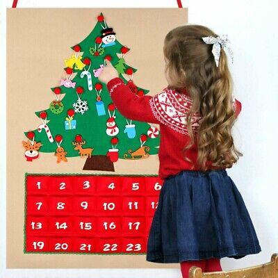 Christmas Tree Advent Calendar Panels Felt Fabric Holiday Countdown Decor ()