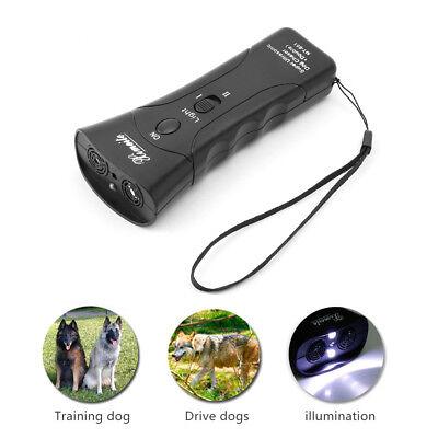 Ultrasonic Dog Chaser Stop Aggressive Animal Attacks Repeller Flashlight new