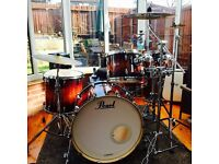 Pearl Masters BCX in Lava Bubinga Drum Kit *As New* Discontinued Series